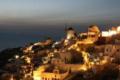 Puesta del sol de Santorini   imagen de archivo libre de regalías
