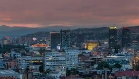 Puesta del sol de Sarajevo Imagen de archivo libre de regalías