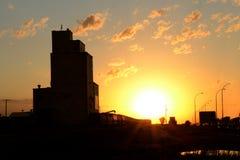Puesta del sol de Saskatchewan Imagen de archivo