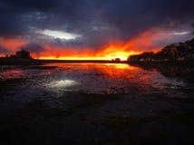 Puesta del sol de Saskatchewan fotografía de archivo libre de regalías