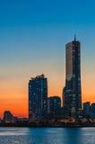 Puesta del sol de Seul Imagen de archivo libre de regalías