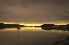 Puesta del sol de Shieldaig del lago Fotografía de archivo