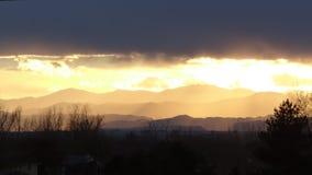 Puesta del sol de siete capas Fotografía de archivo libre de regalías
