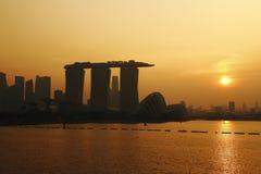 Puesta del sol de Singapur fotos de archivo libres de regalías