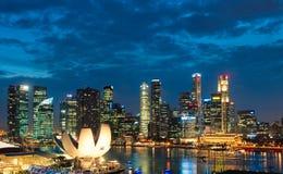 Puesta del sol de Singapur Imagen de archivo libre de regalías
