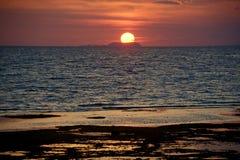 Puesta del sol de Siquijor imagen de archivo libre de regalías