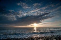 Puesta del sol de Summerstorm Imagen de archivo libre de regalías