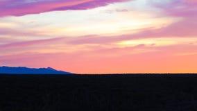 Puesta del sol de Suráfrica Imagen de archivo