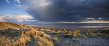 Puesta del sol de Sussex Fotografía de archivo libre de regalías