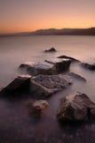 Puesta del sol de Taba del Mar Rojo Foto de archivo libre de regalías