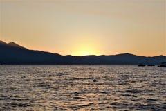 Puesta del sol de Tahoe imagen de archivo