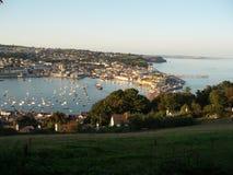 Puesta del sol de Teignmouth fotos de archivo libres de regalías