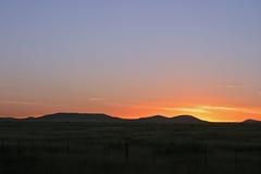 Puesta del sol de Tejas Fotografía de archivo