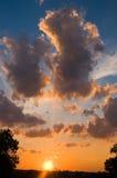 Puesta del sol de Tejas Foto de archivo libre de regalías