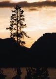 Puesta del sol de Teton Fotos de archivo libres de regalías