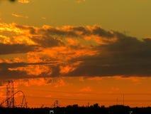Puesta del sol 2017 de Thornhill Fotos de archivo libres de regalías