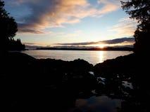 Puesta del sol de Tofino Fotografía de archivo libre de regalías