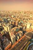 Puesta del sol de Tokio Foto de archivo