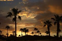 Puesta del sol 4 de Tucson Imágenes de archivo libres de regalías