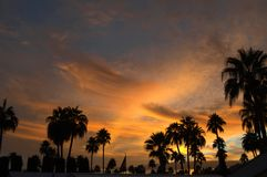 Puesta del sol 4 de Tucson Foto de archivo libre de regalías