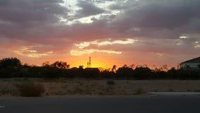 Puesta del sol de Tucson Imagen de archivo