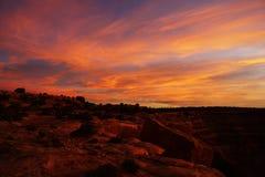 Puesta del sol de Utah Imagen de archivo libre de regalías