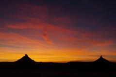Puesta del sol de Utah cerca de Canyonlands Foto de archivo