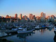 Puesta del sol de Vancouver Fotografía de archivo