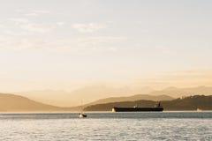 Puesta del sol de Vancouver imagen de archivo libre de regalías