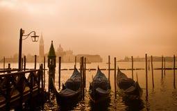 Puesta del sol de Venecia Imagen de archivo