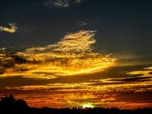 Puesta del sol de voladura imagenes de archivo