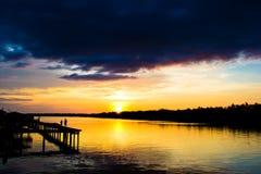 Puesta del sol 02 de Weston foto de archivo libre de regalías