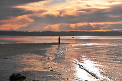 Puesta del sol de Westpoint Fotografía de archivo libre de regalías
