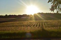 Puesta del sol de Wisconsin imagen de archivo libre de regalías