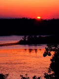 Puesta del sol de Wisconsin de la moraine de la caldera Fotos de archivo