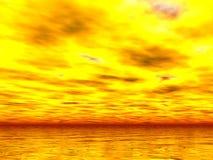 Puesta del sol de Yellowest Fotos de archivo libres de regalías
