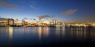 Puesta del sol de Yokohama Osanbashi fotografía de archivo libre de regalías