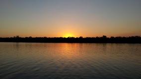 Puesta del sol de York del cabo - Archer River Imágenes de archivo libres de regalías
