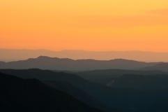 Puesta del sol de Yosemite fotos de archivo libres de regalías