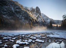 Puesta del sol de Yosemite Fotos de archivo