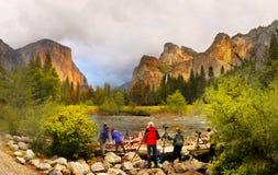 Puesta del sol de Yosemite, parque nacional de Yosemite Fotos de archivo libres de regalías