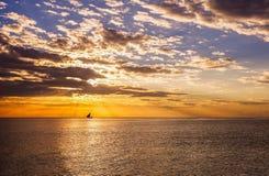 Puesta del sol de Zanzíbar imágenes de archivo libres de regalías