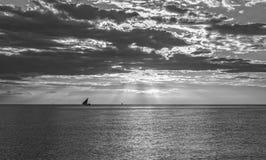 Puesta del sol de Zanzíbar fotografía de archivo libre de regalías
