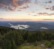 Puesta del sol del Adirondacks de la montaña azul fotos de archivo
