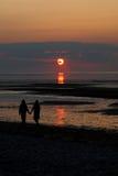 Puesta del sol del bacalao de cabo Foto de archivo