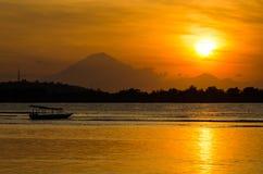 Puesta del sol del Balinese Fotos de archivo