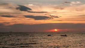 Puesta del sol del batik de Teluk Foto de archivo libre de regalías