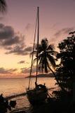 Puesta del sol del Caribe Imágenes de archivo libres de regalías