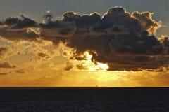 Puesta del sol del Caribe Fotografía de archivo