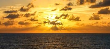 Puesta del sol del Caribe Imagen de archivo